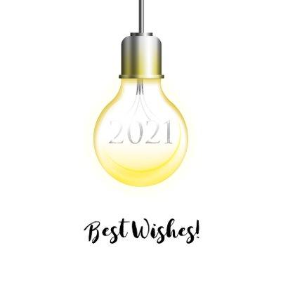 Kerstkaart let it shine lichtpeertjes 2021 2