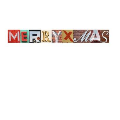 Kerstkaart letters fijne kerstdagen 2