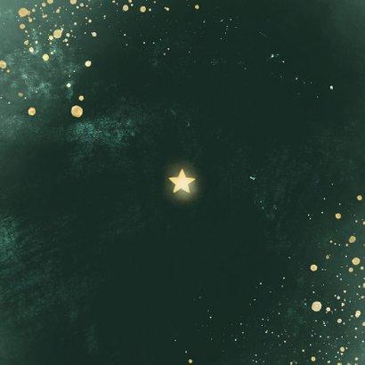 Kerstkaart lichtpuntjes groen met spetters Achterkant