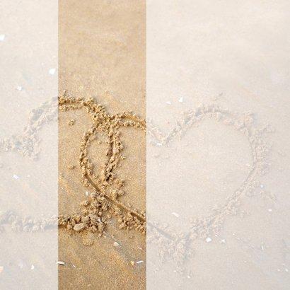 Kerstkaart liefdevolle zand hartjes  2