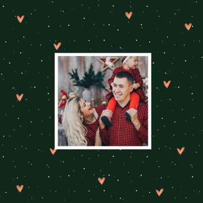 Kerstkaart lovely holidays kerstboom met hartjes 2