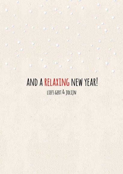 Kerstkaart luiaard Wishing you a relaxing Christmas 3
