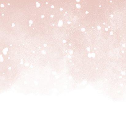 Kerstkaart Merry and Bright met waterverf en sneeuw 2