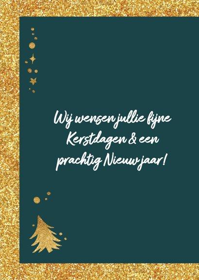 Kerstkaart merry christmas lettering 2