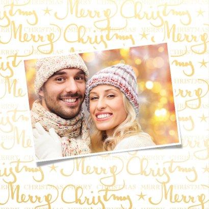 Kerstkaart Merry Christmas met eigen foto 2