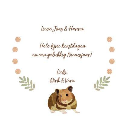 Kerstkaart Merry Hamster 3