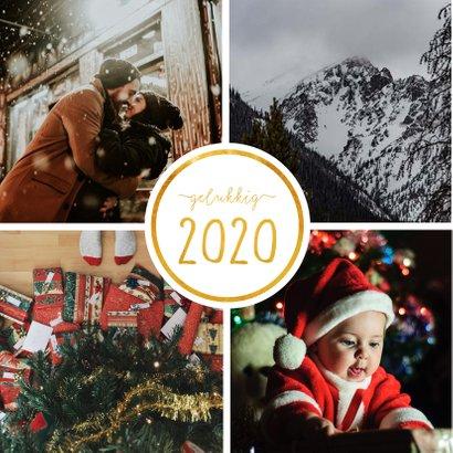 Kerstkaart met 4 foto's vierkant 'Fijne kerst' 2