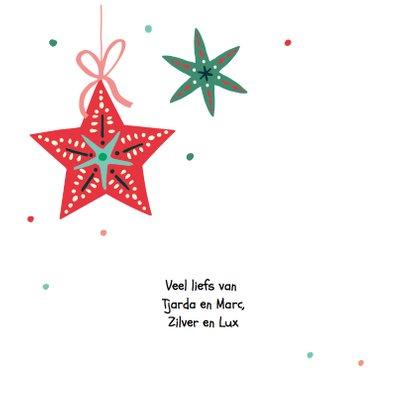 Kerstkaart met een engel die banner vasthoudt 2