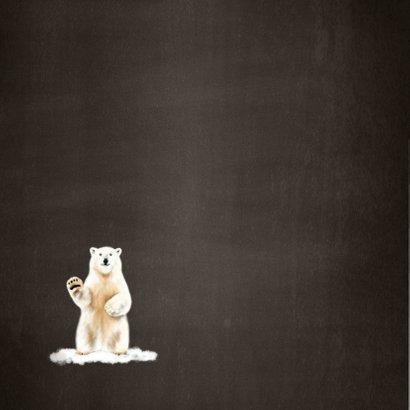 Kerstkaart met een illustratie van een ijsbeer  2