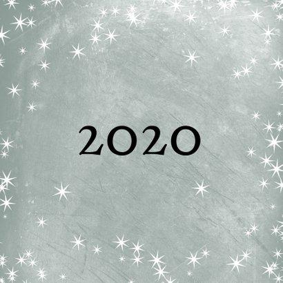 Kerstkaart met foto, 2020 groot en sterretjes 2