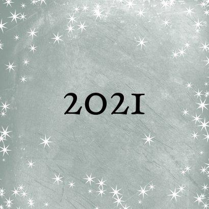 Kerstkaart met foto 2021 groot en sterretjes 2