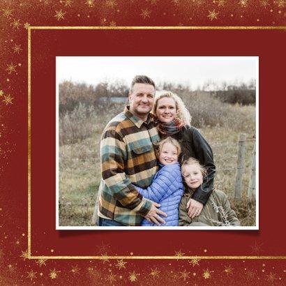 Kerstkaart met foto en goudlook kader 2