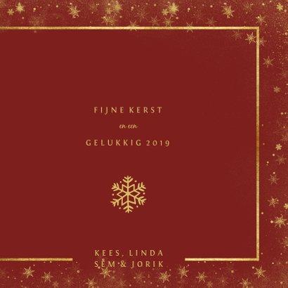 Kerstkaart met foto en goudlook kader 3