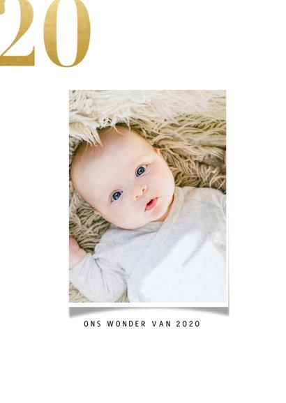 Kerstkaart met fotocollage en gouden 2021 2