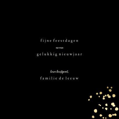 Kerstkaart met fotokerstboom en gouden confetti 3
