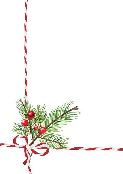 Kerstkaart met geruite achtergrond 2