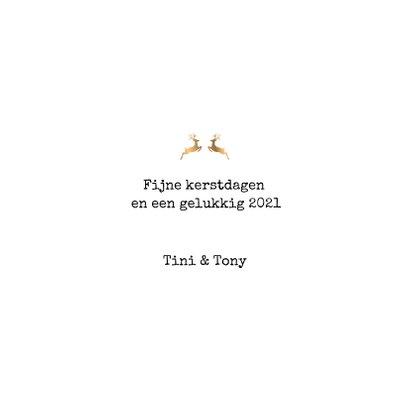 kerstkaart met gouden chevron tekst 3