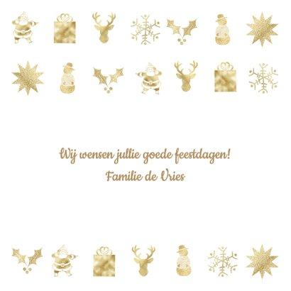 Kerstkaart met gouden figuurtjes 3