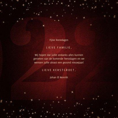 Kerstkaart met handgeschreven feestdagen grote 22 3
