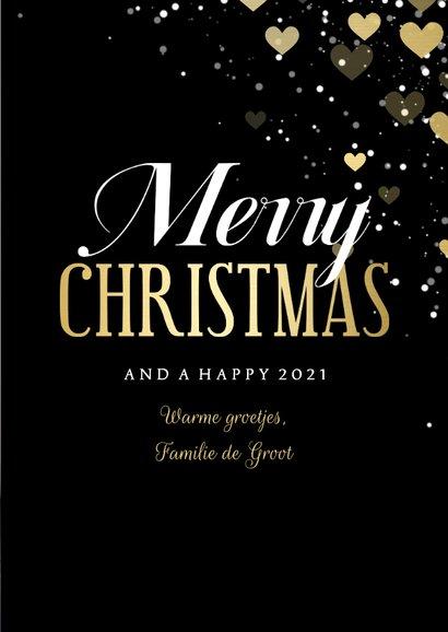 Kerstkaart met hartjeskader grote foto Merry Christmas 3
