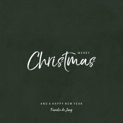 Kerstkaart met jungle patroon en grote foto 3