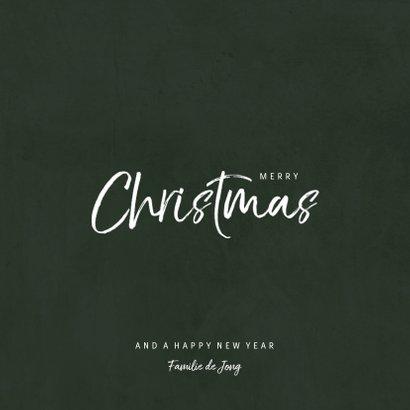 Kerstkaart met jungle patroon en handgeschreven christmas 3