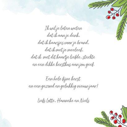 Kerstkaart met kerstkus in een envelopje met foto 3