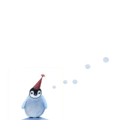 Kerstkaart met lieve pinguin 2