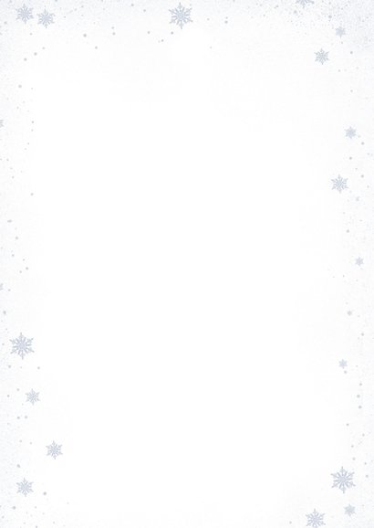 Kerstkaart met mannetjes damhert Achterkant