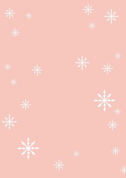 Kerstkaart met pinguïn in de sneeuw 2