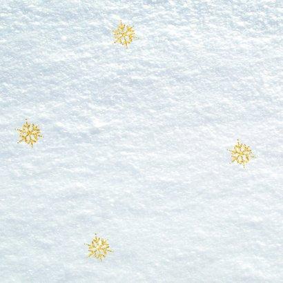 Kerstkaart - met sneeuw en eigen foto 2020 2
