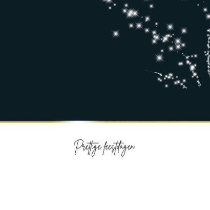 Kerstkaart met sterretjes vuurwerk 2020-2021  2