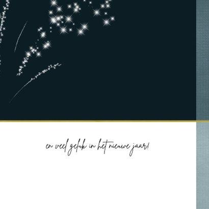 Kerstkaart met sterretjes vuurwerk 2021-2022 3