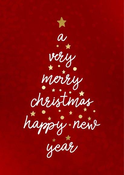 Kerstkaart met typografische kerstboom  2