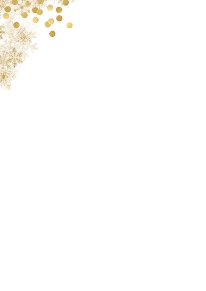 Kerstkaart met veel goudaccenten en 2 foto's 2