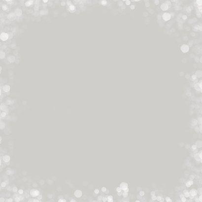 Kerstkaart met winter-roodborst Achterkant