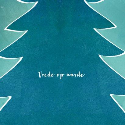 Kerstkaart met winterkerstboom in groen 2