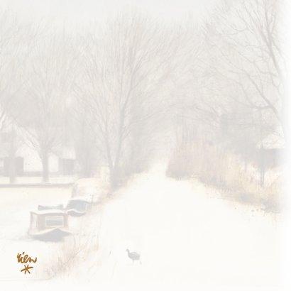 Kerstkaart met wintertafereel 'Meerkoet op ijs' 2