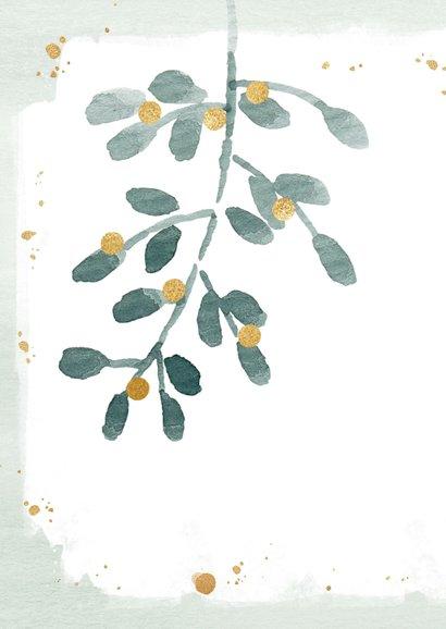 Kerstkaart mistletoe aanpasbare tekst 2