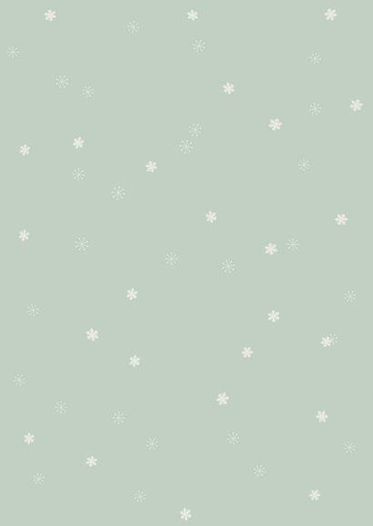 Kerstkaart 'mistletoe' met foto Achterkant
