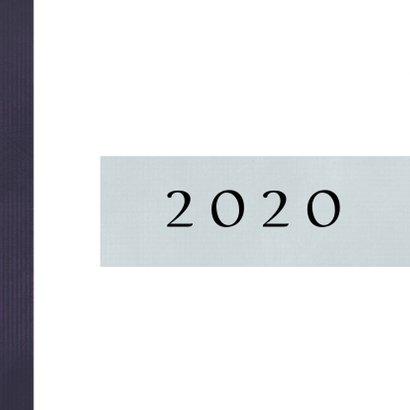Kerstkaart modern 2020-2021 polaroidfoto en sterretjes 2