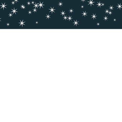 Kerstkaart modern 2020, met grote foto en sterretjes 2