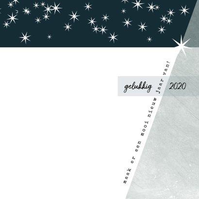 Kerstkaart modern 2020, met grote foto en sterretjes 3