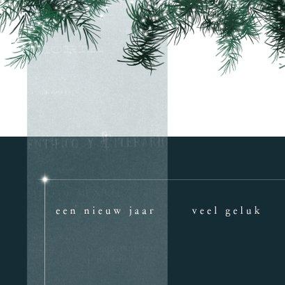 Kerstkaart modern 2020, met kersttakjes met lichtjes en foto 2