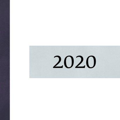 Kerstkaart modern 2020, met polaroid foto en sterretjes 2
