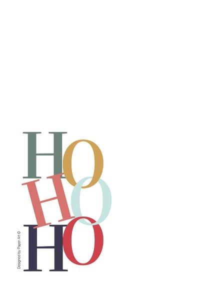 Kerstkaart - Modern - Hohoho 2