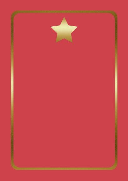 Kerstkaart – Modern – Merry Christmas/Happy New Year Achterkant
