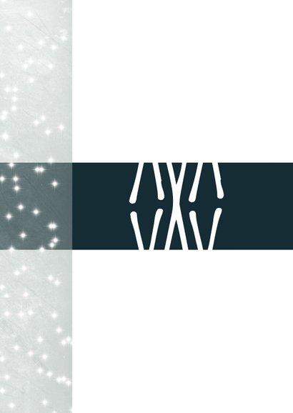 Kerstkaart modern, merry Xmas. X als patroon en sterretjes 2