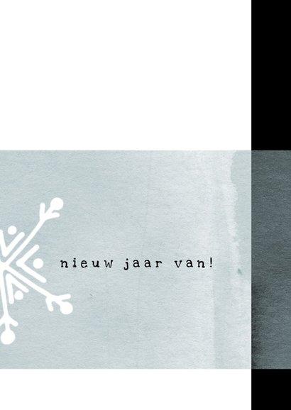 Kerstkaart modern, met dun laagje ijs en kristal 3