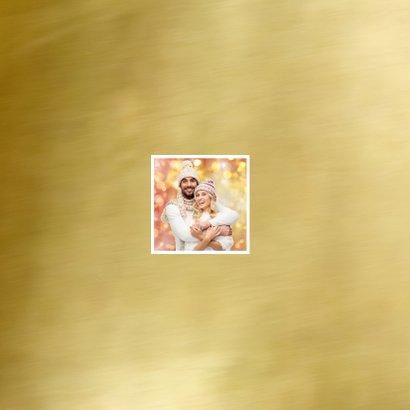 Kerstkaart moderne fotocollage met goud  2